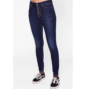Pacsun Button Fly High-Rise Skinny Jeans